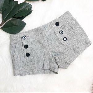 Express | Grey Button Sailor Shorts